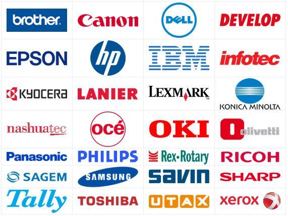 Printermerken Brother, Hp, Epson, Canon, Dell, Samsung, Xerox,...